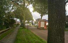Plofkraak in het Friese Haulerwijk [Panorama]